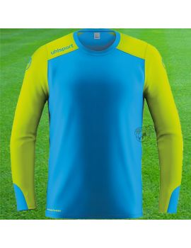 Uhlsport maillot gardien de but Tower Bleu ciel Jaune face