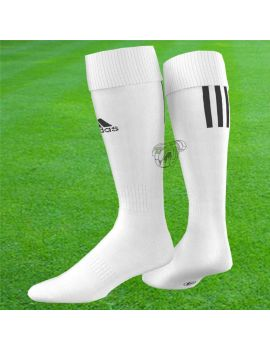 Boutique pour gardiens de but Chaussettes gardien  Adidas - Chaussettes Santos 3 Stripe Blanc Z56222