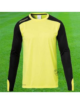 Uhlsport maillot gardien de but Tower Jaune Noir Face