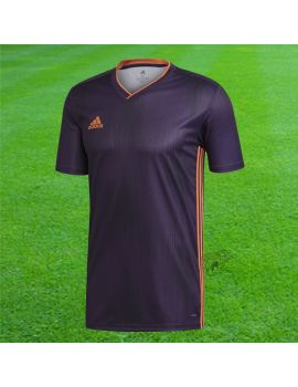 ADIDAS - Maillot Tiro 19 violet / orange manches courtes