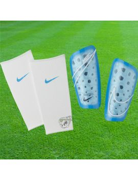 Boutique pour gardiens de but Protège tibias  Nike - Protège tibias Mercurial lite Bleu SP2120-486 / 32