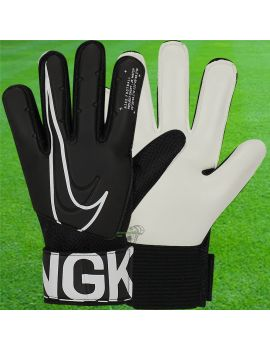Nike - Gants de gardien de but de football Gk Match Junior 2019 Noir