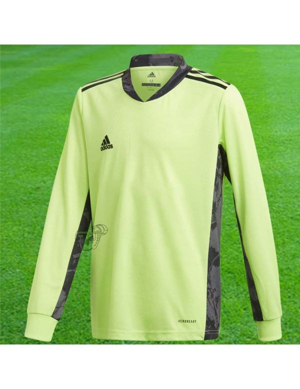 adidas Maillot manches longues Adipro 20 vert fluo