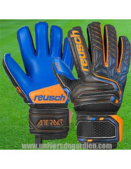 Boutique pour gardiens de but Gants avec barrettes junior  Reusch - Attrakt S1 Finger Support Junior 5072230-7083 / 162