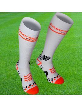 Boutique pour gardiens de but Chaussettes gardien  CompresSport - Chaussettes de compression V2 Blanc FSV211-00T3-36