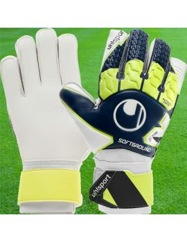 Uhlsport - Soft Advanced bleu marine / jaune fluo 1011156-01 / 81 Gants de gardien de but Uhlsport dans votre boutique en lig...