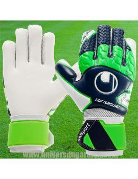 Uhlsport - Soft HN Comp Bleu marine Vert Blanc Junior et Adulte 1011155-01 / 32 Gants Entraînement / match dans votre boutiqu...