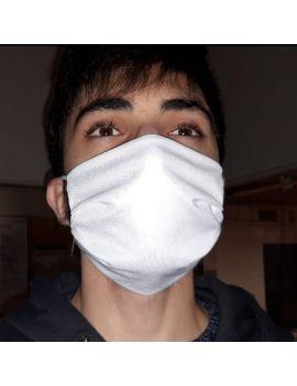 masque protection covid blanc