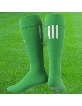 Boutique pour gardiens de but Chaussettes gardien  Adidas - Chaussettes Santos 3 Stripe Vert Blanc AO4077
