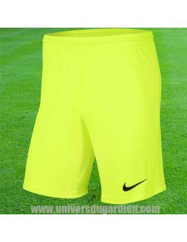 Boutique pour gardiens de but Shorts Joueur (sans protection)  Nike - Short Park III jaune fluo BV6855-702 / B94