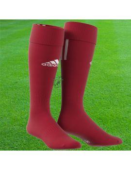 Boutique pour gardiens de but Chaussettes gardien  Adidas - Chaussettes Santos 3 Stripe Rouge Z56224