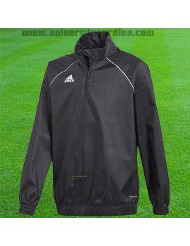 Boutique pour gardiens de but Coupe-vent junior  ADIDAS - Coupe vent Core 18 Noir Junior CE9055 / 173