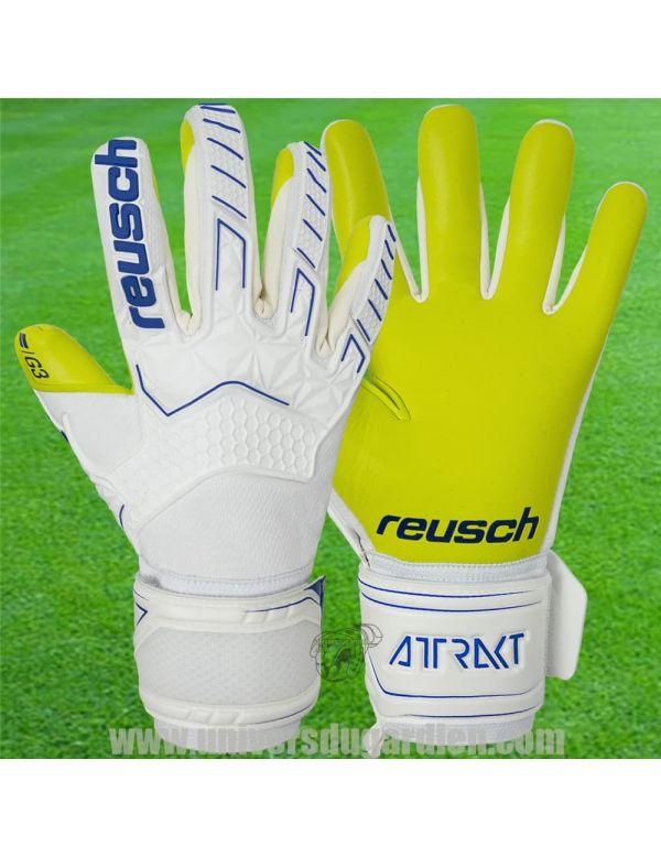 Reusch - Attrakt Freegel G3 Blanc 5070115-1091 / 102 Gants de Gardien Match boutique en ligne Gardien de but