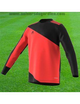 adidas - Maillot manches longues Squadra 21 Rouge et Noir Junior GK9806 / 53 Maillots gardien junior boutique en ligne Gardie...