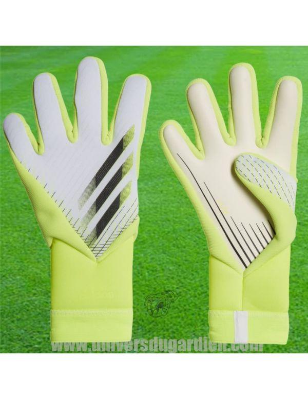 Boutique pour gardiens de but Gants de gardien junior  ADIDAS - X GL Pro Blanc et Jaune Junior GK3507 / 55