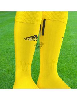 Boutique pour gardiens de but Chaussettes gardien  Adidas - Chaussettes Santos 3 Stripe jaune noir AO4076