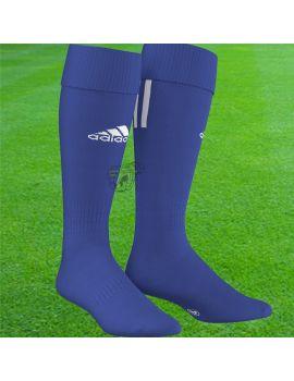Boutique pour gardiens de but Chaussettes gardien  Adidas - Chaussettes Santos 3 Stripe Bleu Blanc Z56223