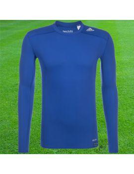 Boutique pour gardiens de but Sous maillots gardien  Adidas - Sous maillot Techfit Manches longues 17 Bleu AJ5018 / 55