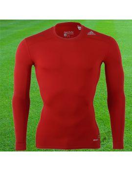 Boutique pour gardiens de but Sous maillots gardien  Adidas - Sous maillot Techfit Manches longues 17 Rouge AJ5015 / 294
