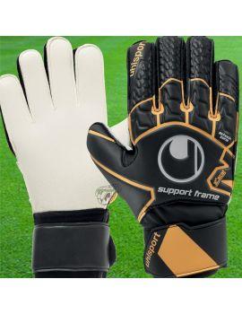 Uhlsport - Soft Resist Supportframe Noir 1011077-01 / 83 Gants avec Barrettes Entraînement boutique en ligne Gardien de but