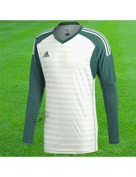 Boutique pour gardiens de but Maillots manches longues  Adidas - Maillot Manches longues Adipro18 Blanc Vert CV6352 / 66