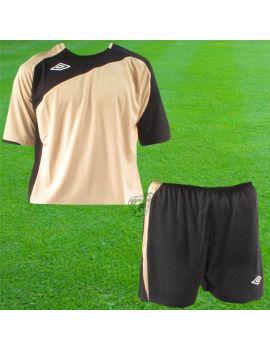 Boutique pour gardiens de but Kit Gardien (maillot  short)  Umbro - Kit Maillot Euro Manches courtes + short Euro Or Noir