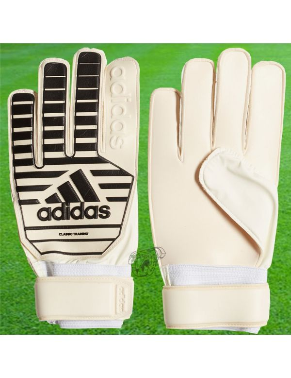 Boutique pour gardiens de but Gants de gardien junior  Adidas - Gant Classic Training Junior Blanc Noir CW5618 / 243