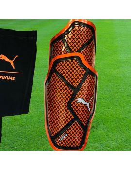 Boutique pour gardiens de but Protège tibias  Puma - Protège Tibias Future 2.2 Orange Noir 030712-01 /