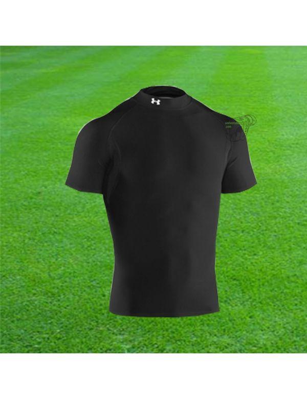 Boutique pour gardiens de but Sous maillots gardien  UNDER ARMOUR - COLDGEAR SS COMPRESSION MOCK NOIR 1003539001