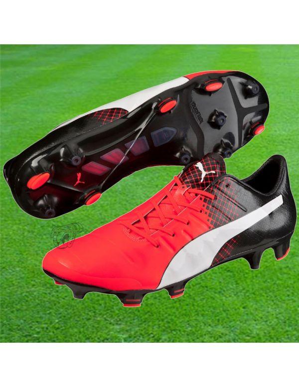 Puma - Evo Power 1.3 FG Noir Rouge