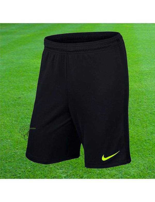 Nike - Short Knit League Noir Jaune fluo