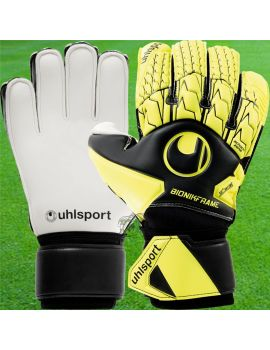 Uhlsport - Absolutgrip Bionik Noir Jaune 1011088-01 / 151 Gants avec Barrettes protection match boutique en ligne Gardien de but