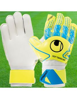 Gant de gardien de but Junior Uhlsport Soft Advanced Jaune Fluo Bleu ciel