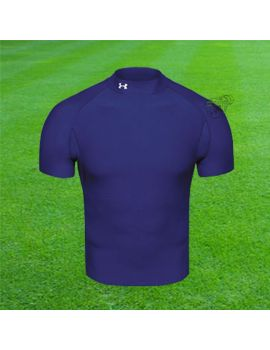 Boutique pour gardiens de but Sous maillots gardien  UNDER ARMOUR - COLDGEAR SS COMPRESSION MOCK - BLEU 1003539/400